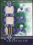 2010/11 Upper Deck Artifacts Tundra Trios Patches Emerald #TT3PETES Steve Yzerman/Eric Staal/Chris Pronger /40