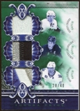 2010/11 Upper Deck Artifacts Tundra Trios Patches Emerald #TT3RMSKI Sidney Crosby/Vincent Lecavalier/Brad Rich