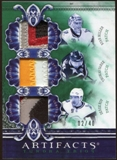 2010/11 Upper Deck Artifacts Tundra Trios Patches Emerald #TT3BUFF Derek Roy/Thomas Vanek/Ryan Miller 2/40
