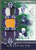 2010/11 Upper Deck Artifacts Tundra Trios Patches Emerald #TT3LEAF Tomas Kaberle/Jean-Sebastien Giguere/Phil K