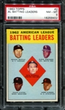 1963 Topps Baseball #2 AL Batting Leaders PSA 8 (NM-MT) *9402