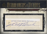 2008 Upper Deck SP Legendary Cuts #ER Edd Roush Headliners and Heroes Cut Auto #22/34
