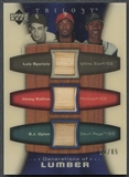 2005 Upper Deck Trilogy #ARU Luis Aparicio, Jimmy Rollins, & B.J. Upton Triple Bat #38/85