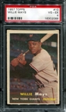 1957 Topps Baseball #10 Willie Mays PSA 4 (VG-EX) *2068