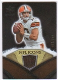 2008 Upper Deck Icons NFL Icons Jersey Silver #NFL10 Brady Quinn /150