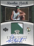 2004/05 Exquisite Collection #46 Delonte West Rookie Patch Auto #093/225