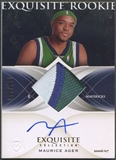 2006/07 Exquisite Collection #67 Maurice Ager Rookie Patch Auto #110/225