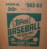 1983 Topps Baseball Wax 20-Box Case