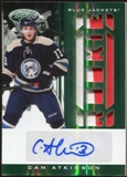 2011/12 Panini Certified Mirror Emerald #265 Cam Atkinson RC Patch Autograph 5/5
