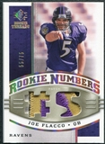 2008 Upper Deck SP Rookie Threads Rookie Numbers Holofoil Patch 75 #RNJF Joe Flacco /75