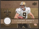 2008 Upper Deck Game Jerseys Gold #UDGJDB Drew Brees /200