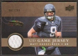 2008 Upper Deck Game Jerseys Gold #UDGJMH Matt Hasselbeck /200
