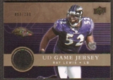 2008 Upper Deck Game Jerseys Gold #UDGJRL Ray Lewis /200