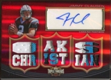2010 Topps Triple Threads Autographed Relics Ruby #TTRA37 Jimmy Clausen 2/3