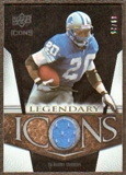 2008 Upper Deck Icons Legendary Icons Jersey Gold #LI1 Barry Sanders /25