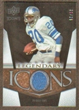 2008 Upper Deck Icons Legendary Icons Jersey Gold #LI2 Billy Sims /25