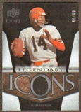 2008 Upper Deck Icons Legendary Icons Jersey Gold #LI12 Ken Anderson /25