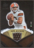 2008 Upper Deck Icons NFL Icons Jersey Gold #NFL10 Brady Quinn /50