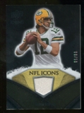 2008 Upper Deck Icons NFL Icons Jersey Gold #NFL13 Aaron Rodgers /50