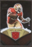 2008 Upper Deck Icons NFL Icons Jersey Gold #NFL22 Frank Gore /50