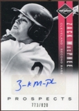 2011 Panini Limited Prospects Signatures #23 Zack MacPhee Autograph 773/820