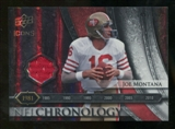 2008 Upper Deck Icons NFL Chronology Jersey Silver #CHR9 Joe Montana /150