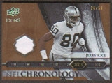 2008 Upper Deck Icons NFL Chronology Jersey Gold #CHR31 Jerry Rice /50
