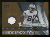 2008 Upper Deck Icons NFL Chronology Jersey Gold #CHR18 Jerry Rice /50