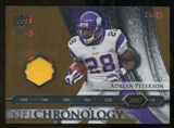 2008 Upper Deck Icons NFL Chronology Jersey Gold #CHR38 Adrian Peterson /50