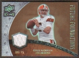 2008 Upper Deck Icons Future Foundations Jersey Gold #FF11 Derek Anderson /75