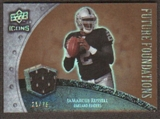 2008 Upper Deck Icons Future Foundations Jersey Gold #FF15 JaMarcus Russell /75