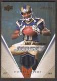 2008 Upper Deck Rookie Jerseys Gold #UDRJDA Donnie Avery /350