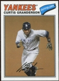 2012 Topps Archives Cloth Stickers #CG Curtis Granderson