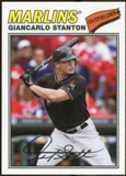 2012 Topps Archives Cloth Stickers #MS Giancarlo Stanton