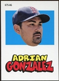 2012 Topps Archives Stickers #AG Adrian Gonzalez