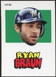 2012 Topps Archives Stickers #RB Ryan Braun