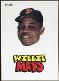 2012 Topps Archives Stickers #WM Willie Mays