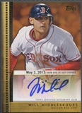 2012 Topps Update #WM Will Middlebrooks Golden Debut Auto