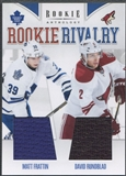 2011/12 Panini Rookie Anthology #44 Matt Frattin & David Rundblad Rookie Rivalry Dual Jersey