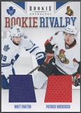 2011/12 Panini Rookie Anthology #28 Matt Frattin & Patrick Wiercioch Rookie Rivalry Dual Jersey