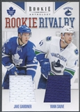 2011/12 Panini Rookie Anthology #58 Jake Gardiner & Yann Sauve Rookie Rivalry Dual Jersey