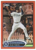 2012 Topps Chrome Orange Refractors #18 Cameron Maybin