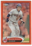 2012 Topps Chrome Orange Refractors #22 Shin-Soo Choo