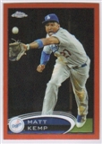 2012 Topps Chrome Orange Refractors #120 Matt Kemp