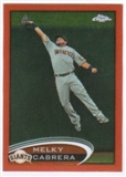 2012 Topps Chrome Orange Refractors #134 Melky Cabrera