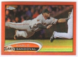 2012 Topps Chrome Orange Refractors #139 Pablo Sandoval