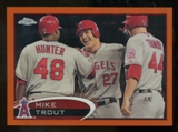 2012 Topps Chrome Orange Refractors #144 Mike Trout