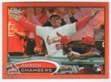 2012 Topps Chrome Orange Refractors #153 Adron Chambers