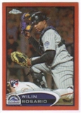 2012 Topps Chrome Orange Refractors #165 Wilin Rosario