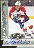 2010/11 Upper Deck Black Diamond Gemography #GSW Stephen Weiss Autograph